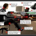 การนั่งหน้าคอมพิวเตอร์ที่ถูกต้อง (จะได้ไม่เสียสุขภาพนะ)